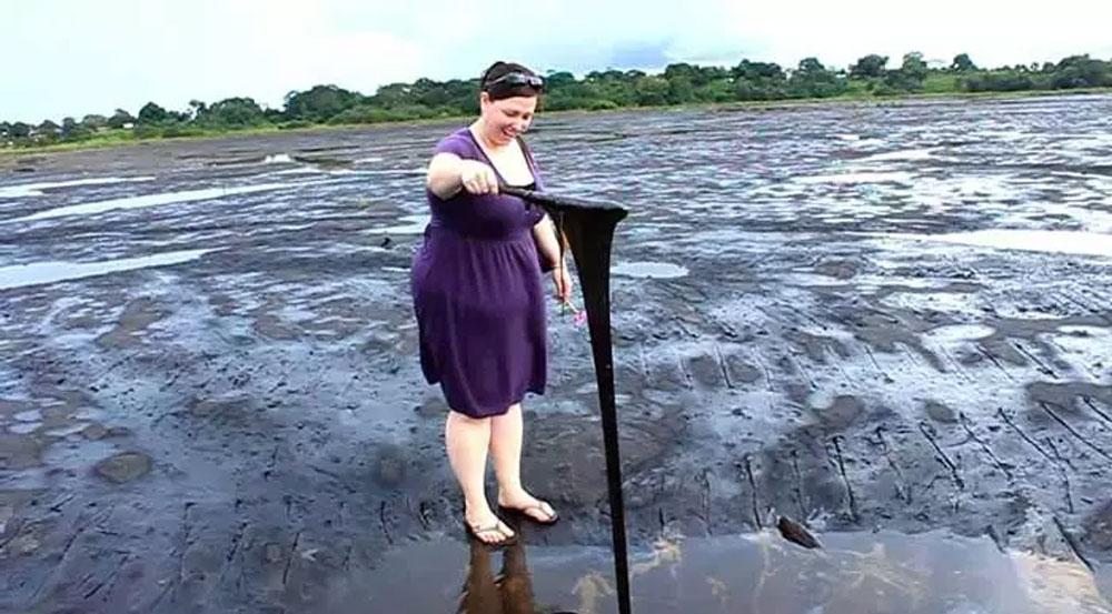 Utólagos vízszigetelés, egy természetes asztfalt-tó